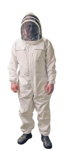 MANN LAKE Economy Beekeeper Suit with Self Supporting Veil, Large