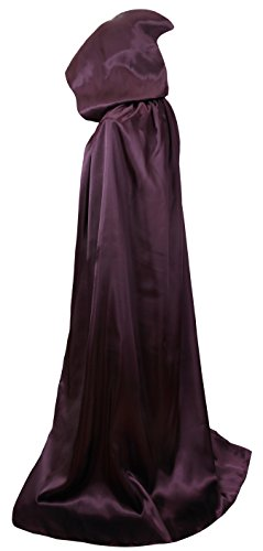 VGLOOK Unisex Hooded Halloween Christmas Cloak Costumes Party Cape(Purple) -