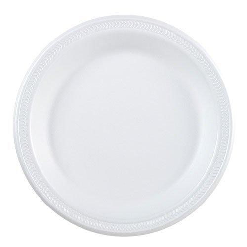 - Nicole Home Collection 00990 Everyday Dinnerware 9 in. White Foam Plates - 600 Per Case
