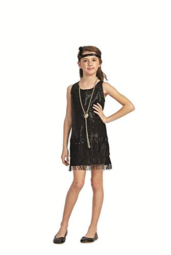 Sequin Flapper,Purple,Medium