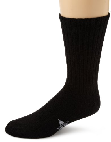 Sock Guy Wool Bike Sock - Wigwam Men's 625 Socks,Black,Large/shoe Size:Men's 9-12,Women's 10-13