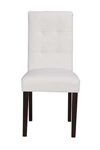Boraam 82218 Lyon Parson Dining Chair, White