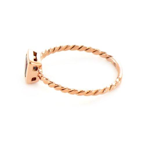 Tous mes bijoux - BATO02006 - Bague Femme - Or rose 375/1000 0.93 gr - Grenat 0.60 cts - Rouge