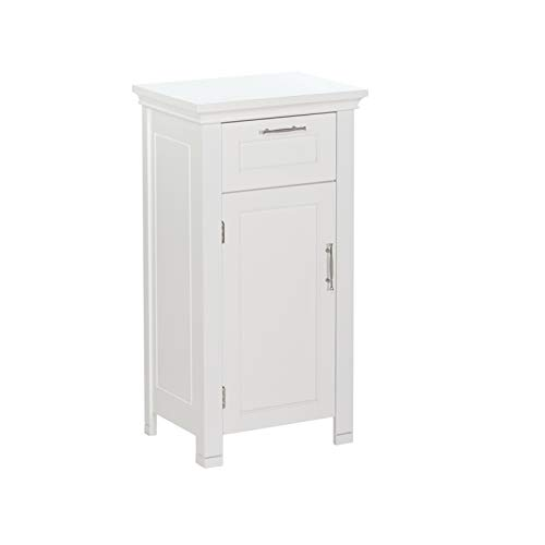 (RiverRidge Somerset Collection Single Door Floor Cabinet, White)