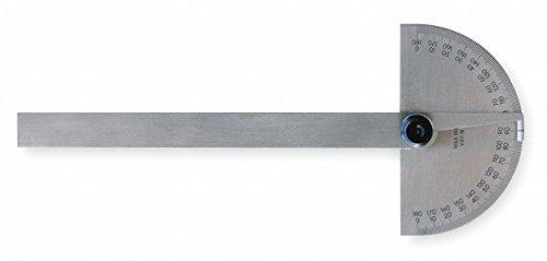 Protractor,Semi-Circular,6 In,Non-Grad