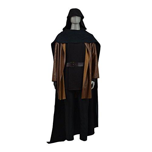 TISEA Men's Skywalker Jedi Luke Cosplay Costume Halloween ...