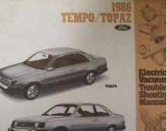 (1986 MERCURY TOPAZ Electrical Wiring Diagram Service Shop REPAIR Manual EWD)