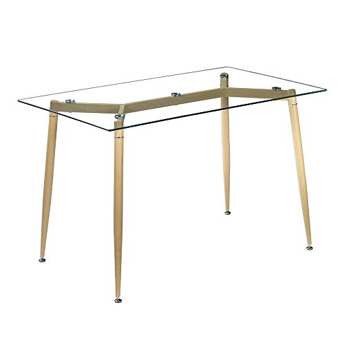 Cypress Shop Dining Table Tempered Glass Top 8