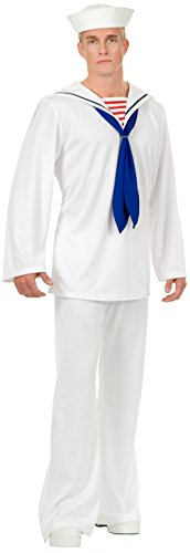 Village People Outfits (Charades Men's Sailor Costume, White,)