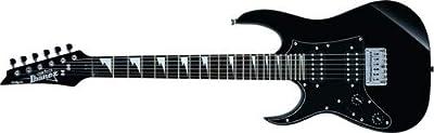 Ibanez GRGM 6 String Solid-Body Electric Guitar, Left, Black Night (GRGM21BKNL)
