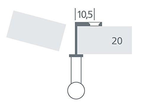 oval vernickelt matt Griffadapter f/ür Faltschiebet/üren f/ür 20 mm T/ürst/ärken