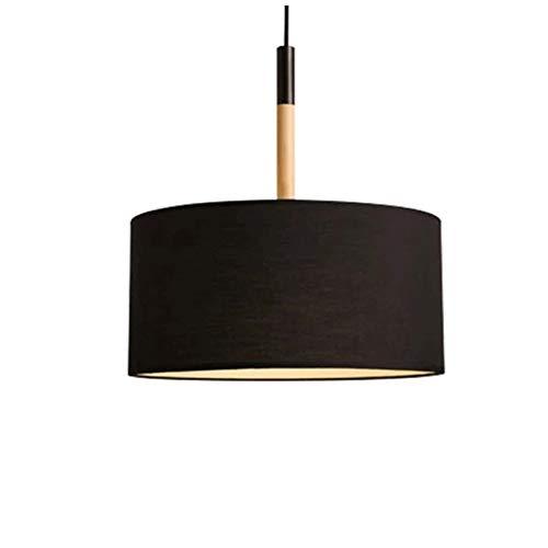 北欧スタイルクリエイティブシンプルなランプ寝室研究レストランシングルヘッド生地シェードシャンデリア12 * 9インチ   B07TQ6DRMN