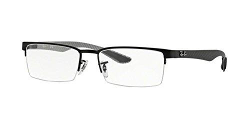 Ray-Ban Men's RX8412 Eyeglasses Matte Black ()