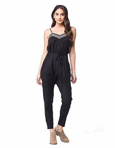 Roxy Women's Celestial Sun Solid Pant Romper, Anthracite, XL