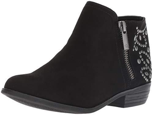 NINA Girls' Destany Fashion Boot, Black, 4 Medium US Big Kid