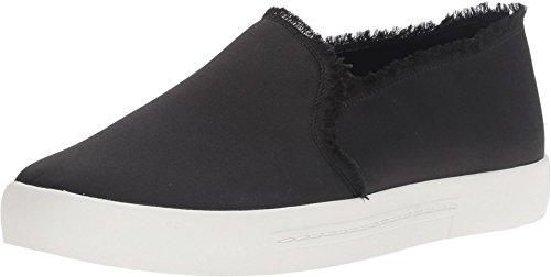 Joie Mujeres Huxley Fashion Sneaker Black Frayed Edge Satin