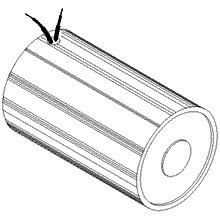 MSS Electromagnet, Tubular, 12.0 Volts DC Continuous Duty, 1.50'' (38 mm) DIA X 2.81'' (71 mm) L - Made in USA