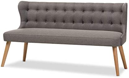 Baxton Studio Melody Settee Bench 3-Seater