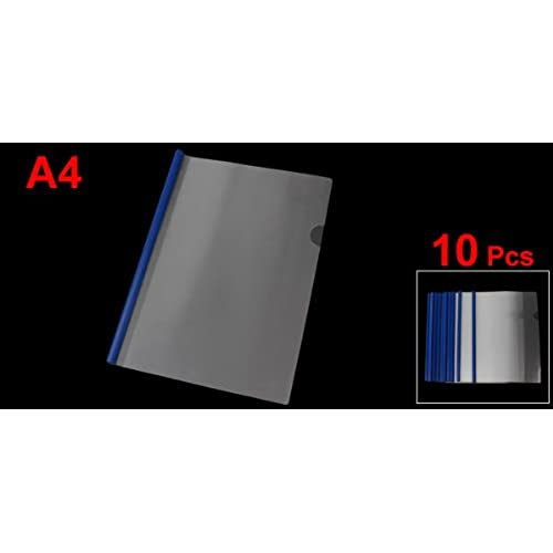 5b5d6b5aefd5 uxcell Plastic A4 Paper Report Sliding Bar Cover Strip File Folder ...