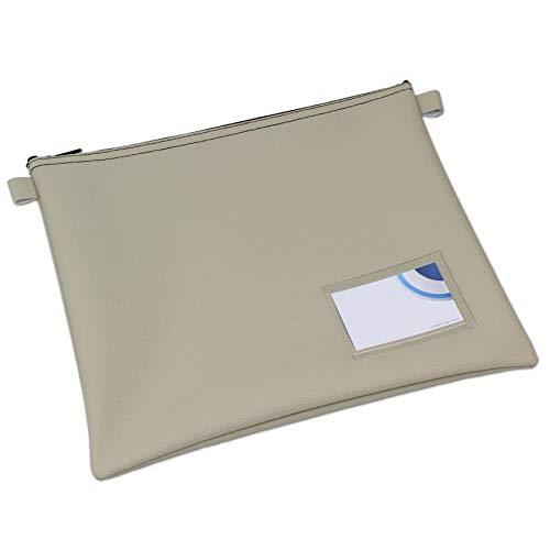 32 x 26.5 cm Sandfarben effektivo 10908 Banktasche mit Fenster