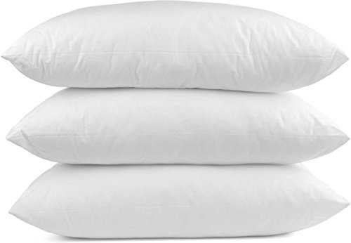 Euro 3 Inserts - Lavish Linens Multiple Sizes- (28 x 28) Set of 3 Square Pillow for Sleeping- Down Alternative Toddler Pillows (3 Pack)