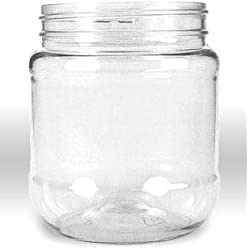 Plastic Jar with Pressurized Lid Pack of 12 (12oz) Crystal Clear