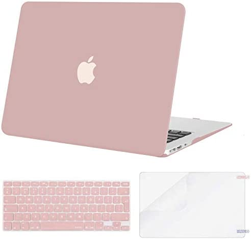MOSISO Case Compatible MacBook Air 13 Inch A1369//A1466 Plastic Shell Cover /& Matching Color Keyboard Cover EU Layout /& Screen Protector Older Version Release 2010-2017 Navy Blue Marble