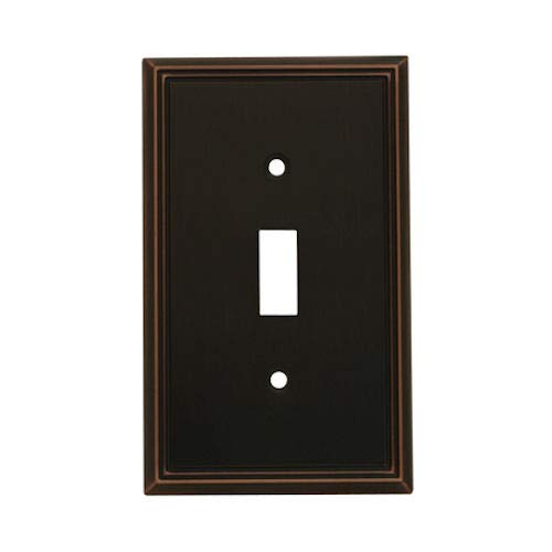 5 Pack - Cosmas 65003-ORB Oil Rubbed Bronze Single Toggle Switch Plate Switchplate Cover