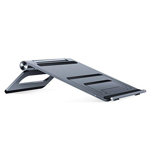 MS Laptop Stand, Apple Mac Book Tray, Desktop Folding Aluminum Alloy Heat Sink, Aluminum Alloy Work Computer Desk, 72.6mm205.6mm195mm @