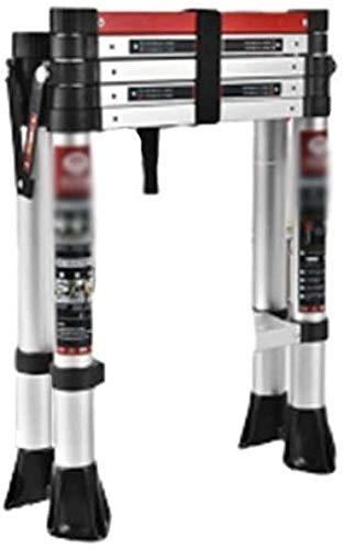 はしご アルミ台 伸縮はしご 世帯ごとの伸縮式はしご、ワンボタンが後退拡張ラダー多目的75ミリメートル広がったペダルと安全手すり 便座とフレーム (Size, Style2),Style2
