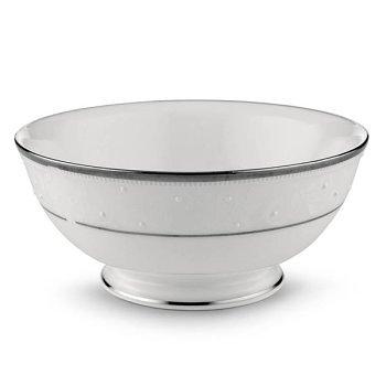 Lenox Opal Innocence Platinum Banded Bone China Fruit Bowl