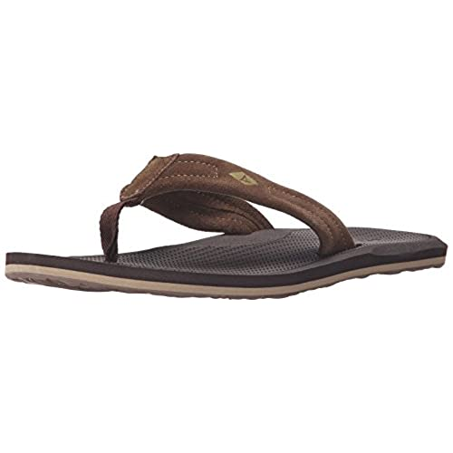 Sperry Top-Sider Men's Sharktooth Thong Fisherman Sandal, Brown, 10 M US