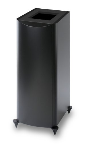 Atlantic Technology 6200eLR-PED-BLK Pedestal Stands for 6200eLR Speakers (Single, Satin Black) by Atlantic Technology