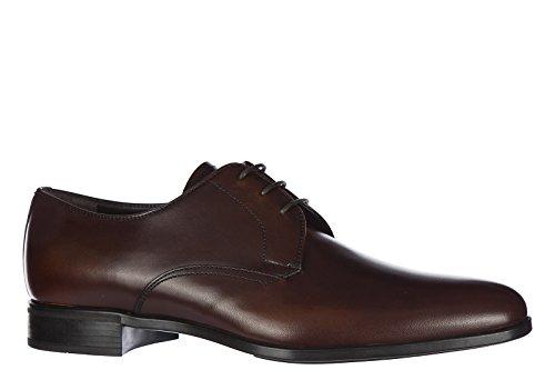 Prada Herrenschuhe Leder Herren Business Schuhe Schnürschuhe derby Braun