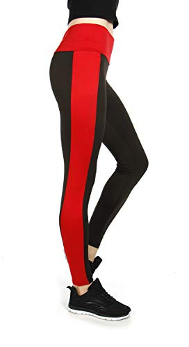 SERENITA College University Color Leggings High Waist Yoga Collegiate Sports Pants, Arkansas State University, Red/Black