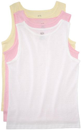 Fruit Of The Loom Big Girls'  Girls'  Cotton Tank , Assorted, Small(Pack of 3) (Fruit Of The Loom Camisole)