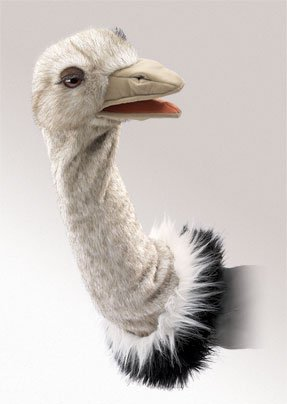 Stage Stage Puppet Puppet (Folkmanis Ostrich Stage Puppet)