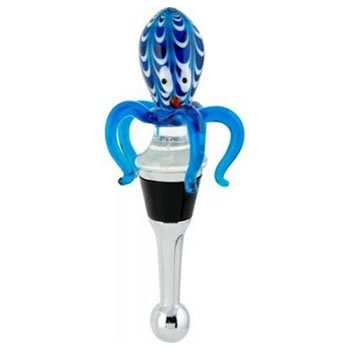 Octopus Glass Wine Bottle Stopper ()
