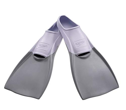 Speedo Rubber Swim Training Fins - L (W 9-10 / M 8-9) - White