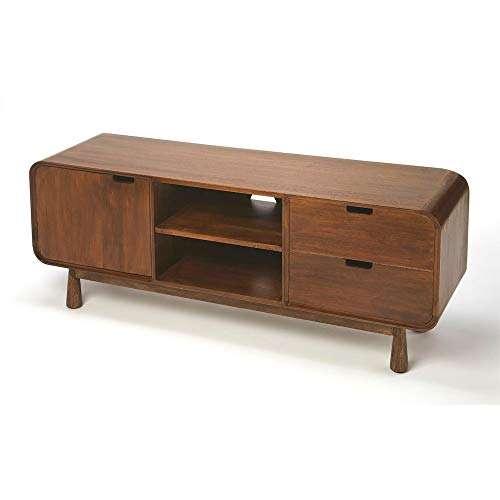 Drayton Modern Wood Entertainment Console in Brown
