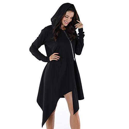 OMONSIM Plus Size Coat Hooded Jacket Warm Hooded top Hooded Tunic