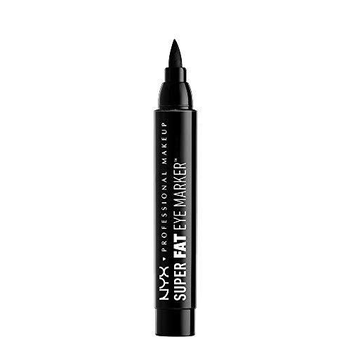 NYX PROFESSIONAL MAKEUP Super Fat Eye Marker, Liquid Eyeliner, Carbon Black