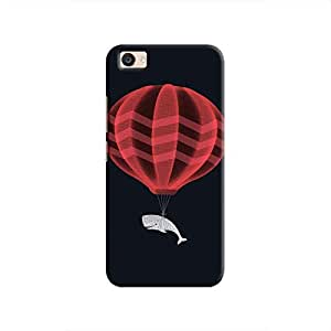 Cover It Up Whale Balloon Hard Case for Vivo V5 Plus - Multi Color