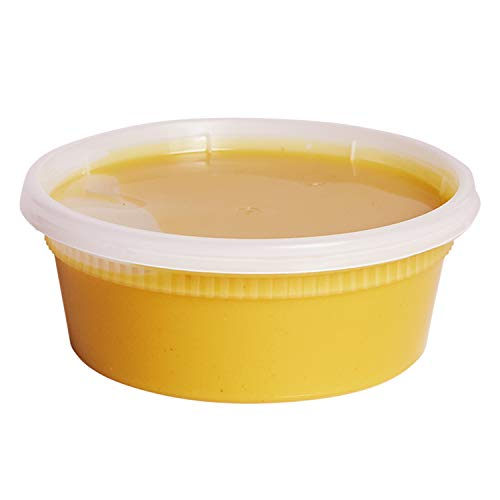 8 oz. Plastic Deli Food Storage Containers with Airtight Lids [48 Sets] by Comfy Package