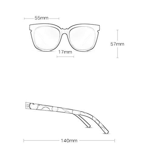 B lunettes coloré Grand Sport Soleil de D soleil de Film Couleur polarisées Miroir de Lunettes de Conduite Cadre Femme Des rétro Nouveau ROdzwWBqw