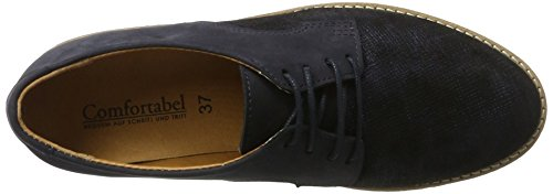 Comfortabel 950714, Zapatos de Cordones Brogue para Mujer Blau (Blau)