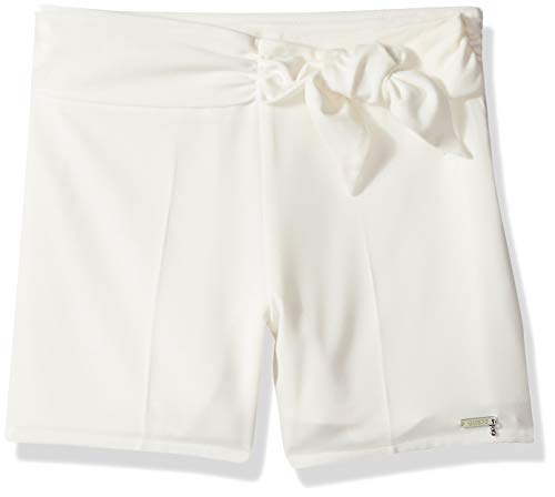 GUESS Girls' Big TIE Front Short, White Clay a 14