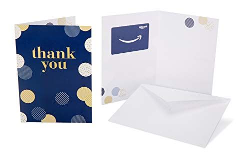 Amazon.com Gift Card in a Greeting Card (Thank You Polka Dots Design)