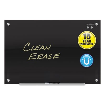 Infinity Magnetic Glass Marker Board, 72 x 48, Black, Sold as 1 Each