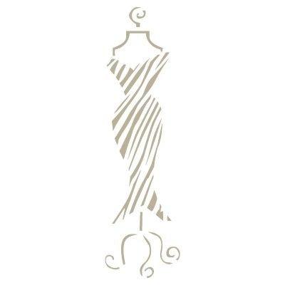 TODO-STENCIL Mini Deco Vintage Figura 060 Maniqui. Medidas aproximadas: Medida exterior 12 x 12 cm Medida del diseñ o:2, 4 x 8 cm